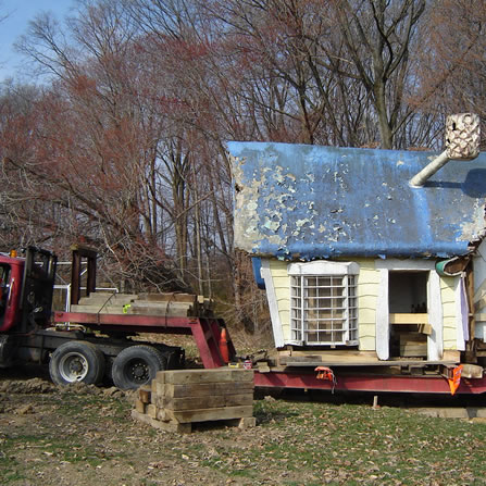 We had to cut the house in half to move it.