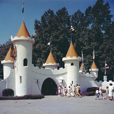 The Castle entrance in 1955